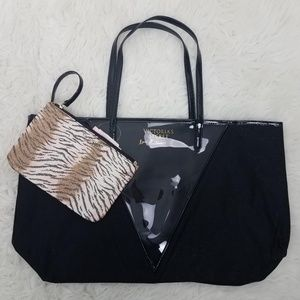 Victoria's Secret Tote Shopper Bag Black